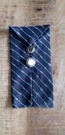 Opbergzakje / hoesje van oude stropdas 01 donkerblauw