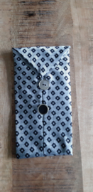 Opbergzakje / hoesje van oude stropdas 03 zilvergrijs