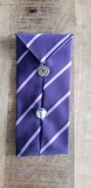 Opbergzakje / hoesje van oude stropdas 13 paars