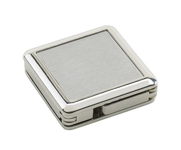 Tassenhaak vierkant zilverkleur