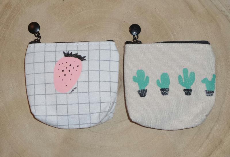 make-up tasje cactus of aardbei (rits) met inhoud