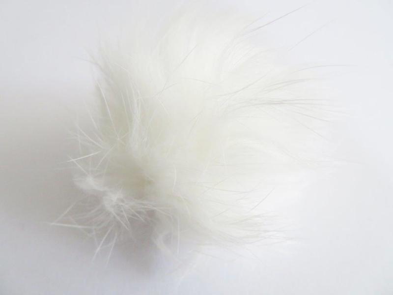 Pompon van bont - wit (10 stuks)