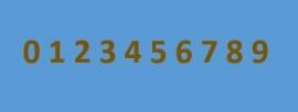 Losse cijfer (per stuk)  800 320