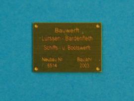 """Messing """"Werfplaat"""" 9 x 12mm (802 200)"""