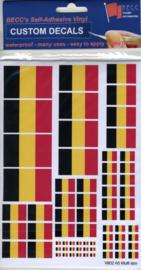 "Set Vinyl stickers ""BELGIE vlaggen"" (VB02)"