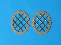 Afdekrooster (2 stuks) voor boegschroef R108-01  (800 321)