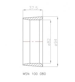 MSN 100 080 Straalbuis, geschikt voor schroef  Ø 80 mm