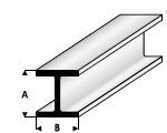H-Profiel  1,5 x 1,5mm  415-51 (1 Meter)