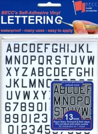 Cijfer / Letter vel *Pen RN*  Hoogte 13 MM
