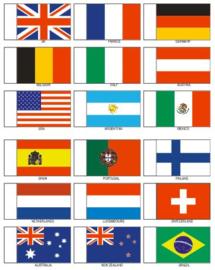 National vlaggen set 25mm  (SN25)
