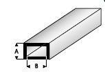 Koker Rechthoek 2,0 x 4,0mm  421-51 (3x 33cm)