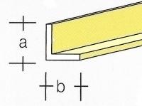 AE7746-04  Messing  Hoek-Profiel  1,0 x 1,0MM     (3 x 33 cm)