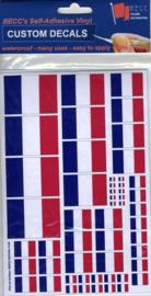 """Set Vinyl stickers """"FRANKRIJK vlaggen"""" (VF02)"""