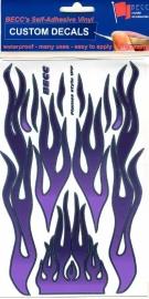 Vinylvel  *Flames Paars / Paars*  1:10 - 12