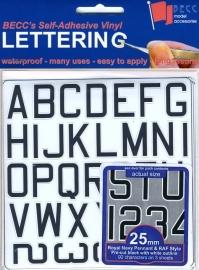 Cijfer / Letter vel *Pen RN*  Hoogte 25 MM
