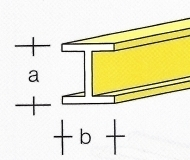 AE7749-04  Messing  H-Profiel  1,0 x 1,0MM  (3 x 33 cm)