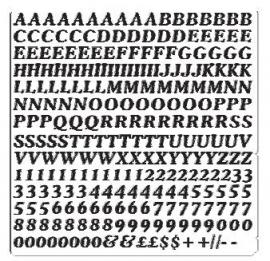 Vinyl Cijfer / Letter vel *COOPER* Hoogte 4 MM
