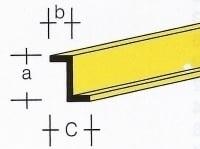 AE7742-81  Messing  Z-profiel  1,0 x 1,15MM  (3 x 33 cm)