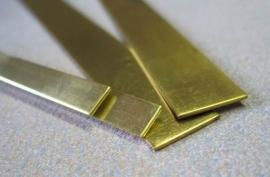 Buigzaam messing strip LxBxD  300x13x0,85 mm (5078-01)