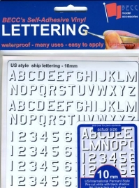Number  / Letter sheet*Pen US*  height 10 MM