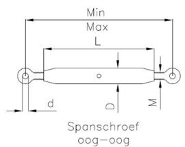 Spanschroef 8mm (5300/08)