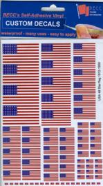 "Set Vinyl stickers ""USA vlaggen"" (VUSA20)"