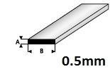 Strip  0,5 x 2,0mm  408-53 (1 Meter)