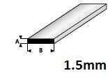 Strip  1,5 x 2,0mm  410-51 (1 Meter)