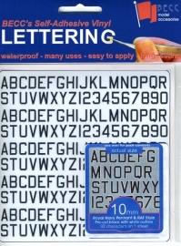 Cijfer / Letter vel *Pen RN*  Hoogte 6 MM
