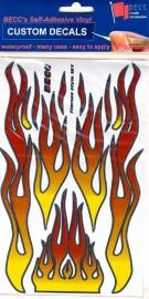 Vinylvel  *Flames Rood / Geel*  1:10 - 12