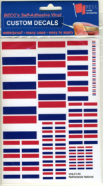 "Set Vinyl stickers ""NL vlaggen"" (VNL01)"