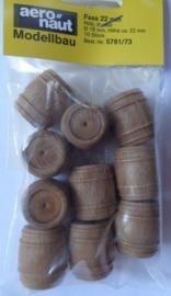 """10mm Houten """"TONNEN"""" 10 st.  (5781/60)"""