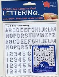 Cijfer / Letter vel *Pen USLV*  Hoogte 10 MM