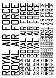 Tekstvel *ROYAL AIR FORCE*  (RAFTEXT)