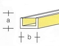 AE7747-52  Messing  Half U-Profiel  1,0 x 0,6MM  (3 x 33 cm)