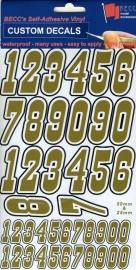 Cijfers Pak MNP 1 *GOUD*  Hoogte 25 & 50MM