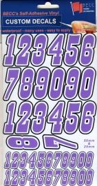 Cijfers Pak MNP 1 *PAARS*  Hoogte 25 & 50MM