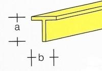 AE7748-04  Messing  T-Profiel  1,0 x 1,0MM  (1 Meter)