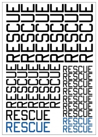 Tekstvel *RESCUE*  (RescueTEXT)