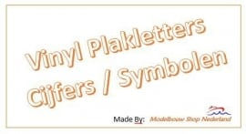 Vinyl Plakletters / Cijfers / Symbolen