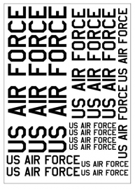 Tekstvel *US AIR FORCE*  (USAFTEXT)
