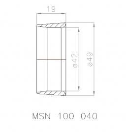 MSN 100 040 Straalbuis, geschikt voor schroef  Ø 40 mm