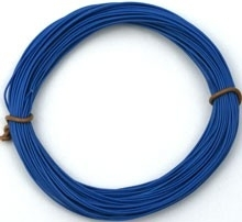 Blauw PVC draad.  E50512