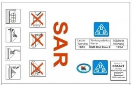 Opschrift SAR reddingsvlot  1:20   200 203