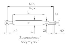 Spanschroef 14mm (5299/14)
