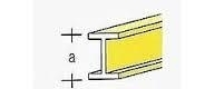 AE7749-52  Messing  I-Profiel  1,0 x 0,6MM  (1 Meter)