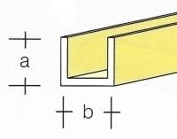 AE7747-12  Messing  U-Profiel  3,0 x 3,0MM  (3 x 33 cm)