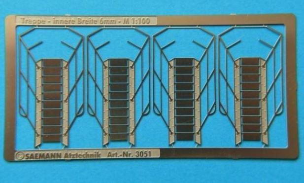 800 341 Trap 29 x 6mm (1:100) 4 stuks