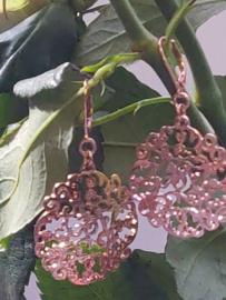 Oorbellen rosegold filegraan
