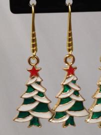 """Oorbellen """"kerstboom"""""""